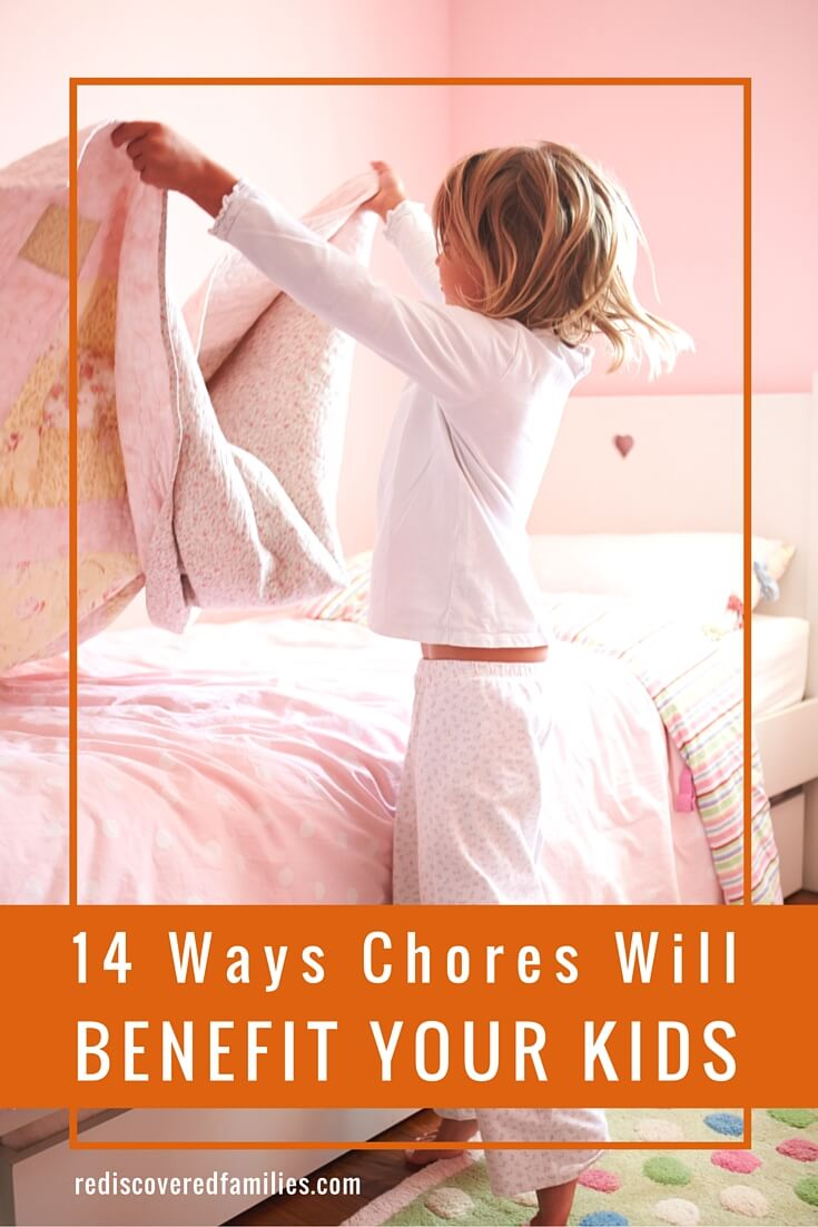 Household work can empower children if implemented in the right spirit. Your kids may complain, but chores will actually benefit them. Just don't tell them we told you so! I really like this list of benefits, but number 13 is definitely my favorite!