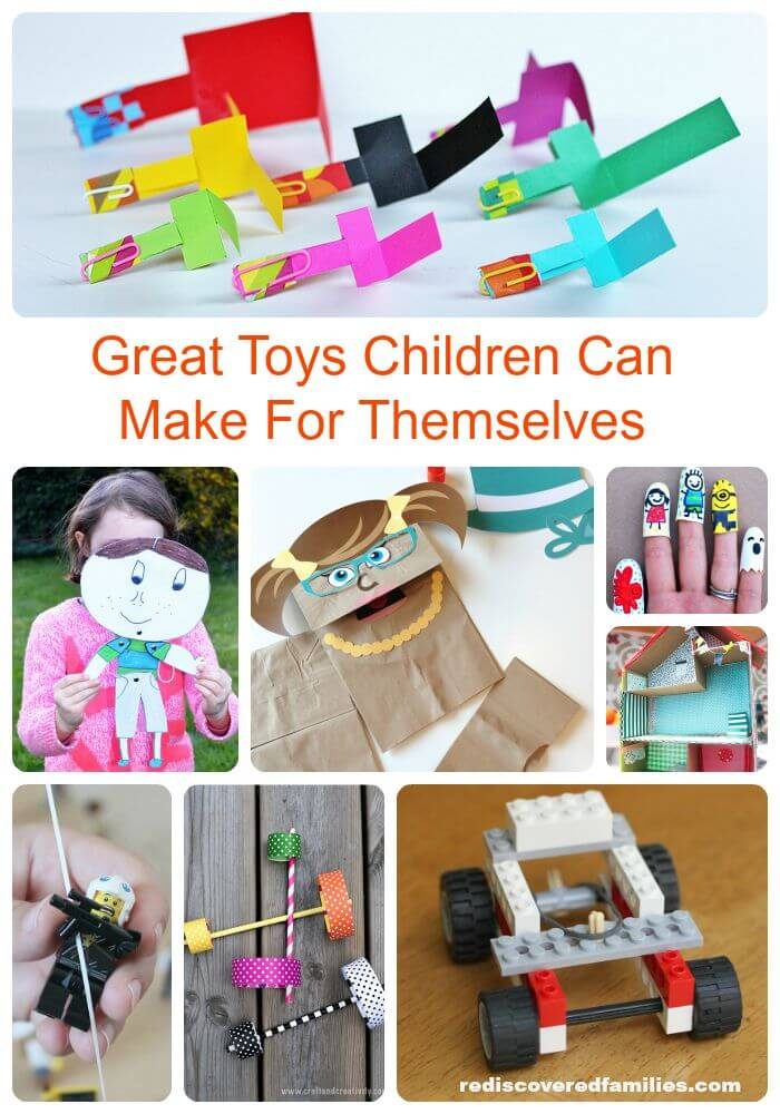 Have you ever spent good money on a fabulous toy only to have your child play for hours with the box? Children are naturally creative and have fantastic imaginations. Provide your children with hours of fun with toys they can make themselves.