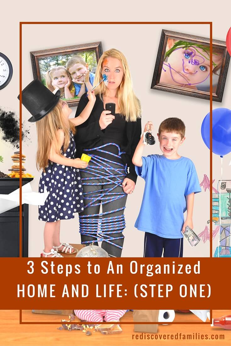 Tired of living in chaos? Here is the first of three steps to show you how to organize your home and life. Check out the first step here!