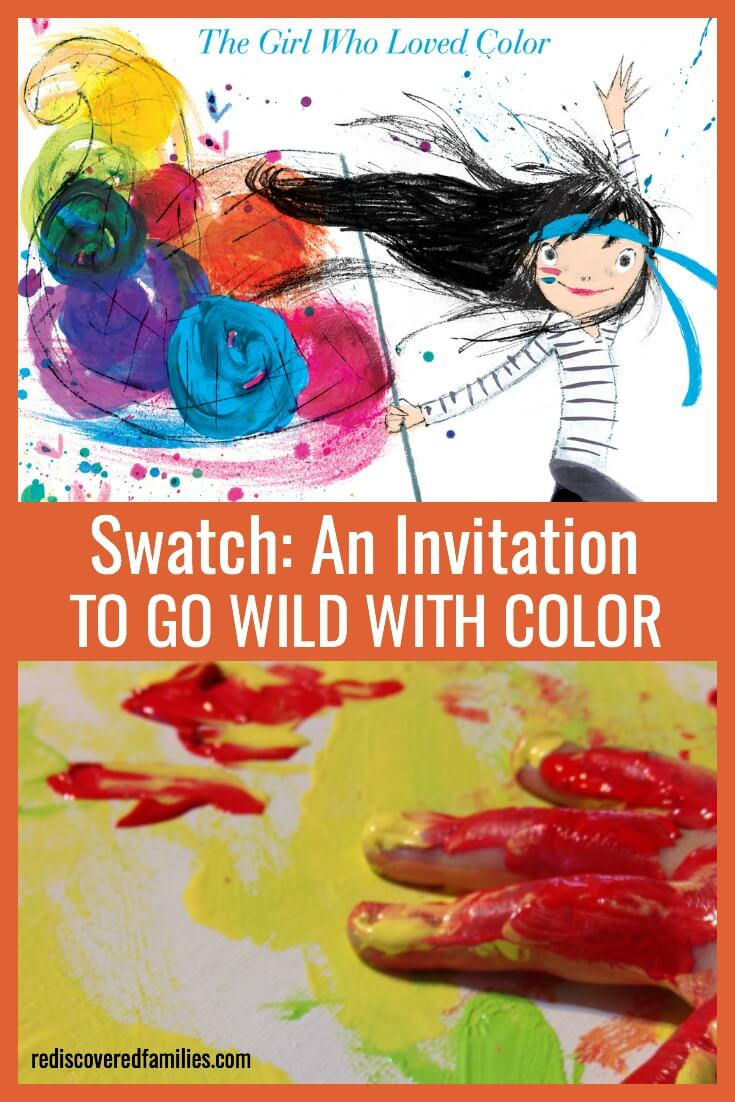"Have your kids go wild with colorful art projects inspired by ""Swatch: The girl who loved colors"" by Julia Denos. Kids love this vibrant, imaginative book."