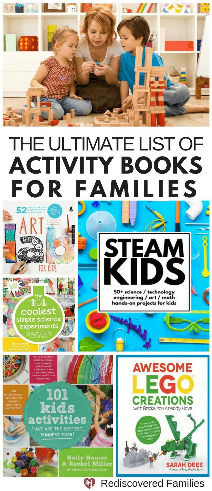 Family Activity Books| Steam Activities |Art |Lego